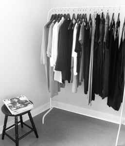 Clothing Rack Blk White