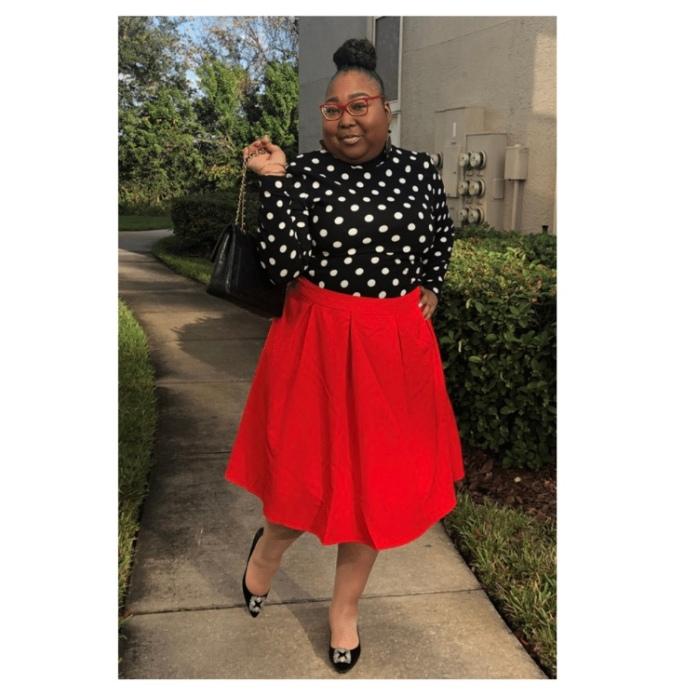 PolkaDots Red Skirt 1