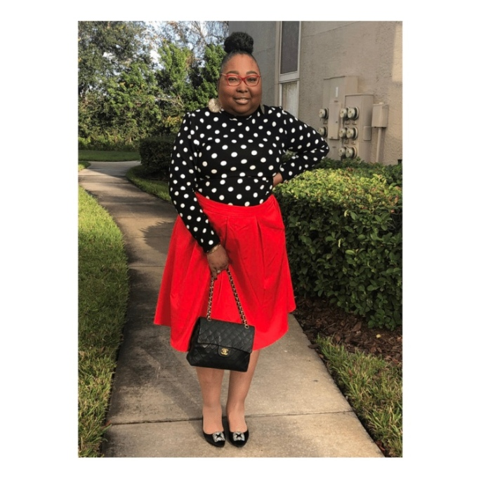PolkaDots Red Skirt 3