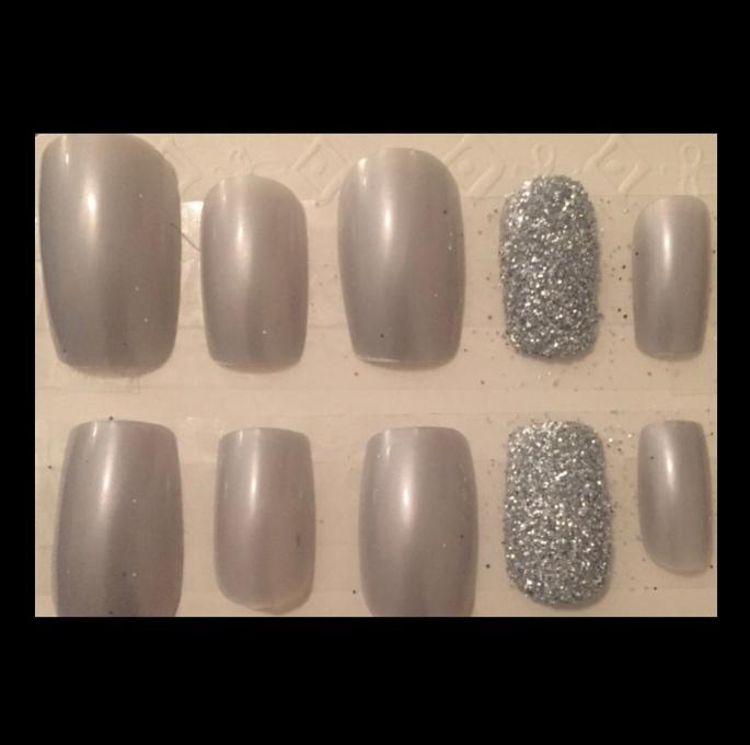 Silver Glitter Square Set