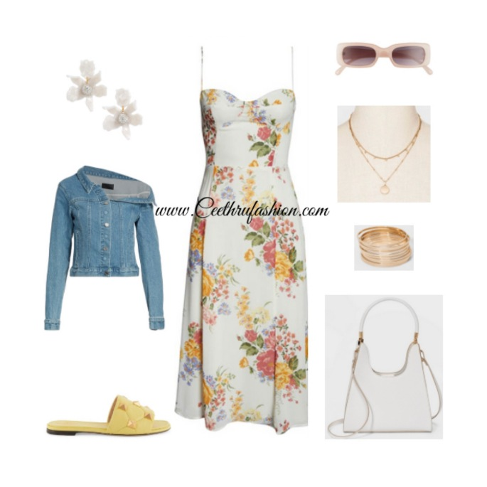 spring fashion, spring 2021, summer fashion, ootd, outfit, lupus, floral prints, floral dresses, Valentino, target, Nordstrom, Lele Sadoughi, RtA, Reformation