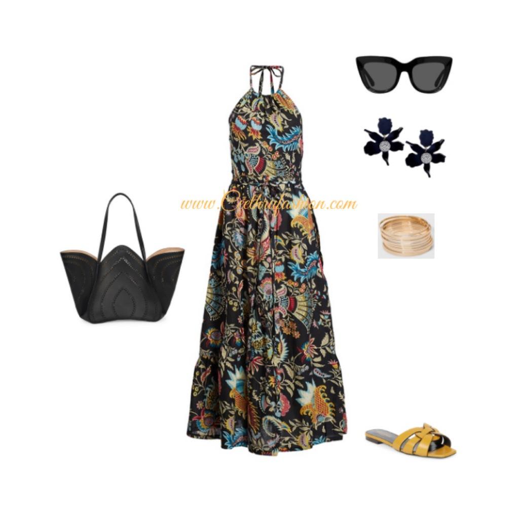#maxidress #halterdress #saintlaurent #ysl #alaia #target #lupus #budgetfriendly #highlowfashion #springfashion #ootd #outfit #rachelcomey #lelesadoughi