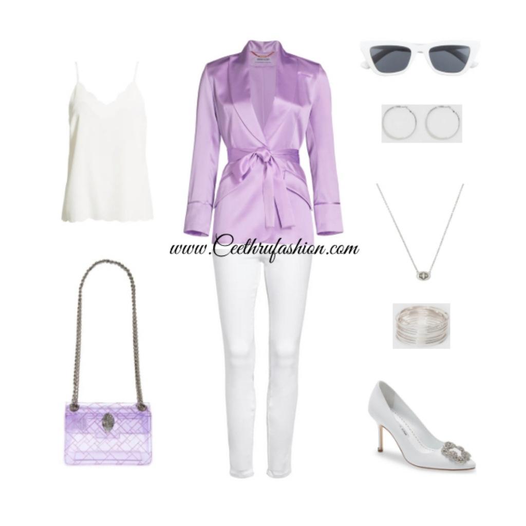 #wearpurple #purple #lupus #lupusawareness #lupusawarenessmonth #silkblazer #pumps #springfashion #streetstyle #springstyle #springoutfit #ootd #outfitoftheday #springlook #manoloblahnik #hangisi #spanx #kurtgeigerlondon #halogen #adrianaiglesias #coach #BP #nordstrom #target