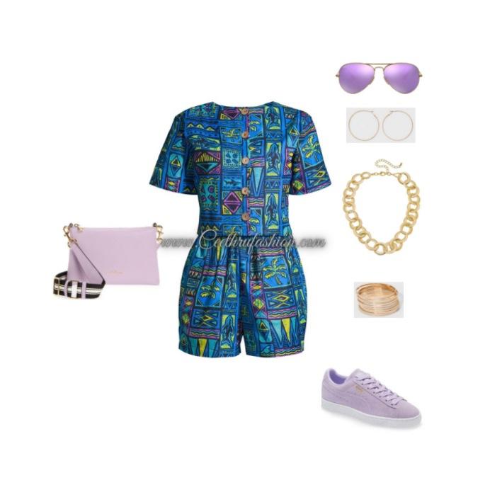 #wearpurple #purple #lupus #lupusawareness #lupusawarenessmonth   #springfashion #streetstyle #springstyle #springoutfit #ootd #outfitoftheday #springlook #puma #elisamama  #smarcjacobs #rayban #target #romper #onepiece #africanprint