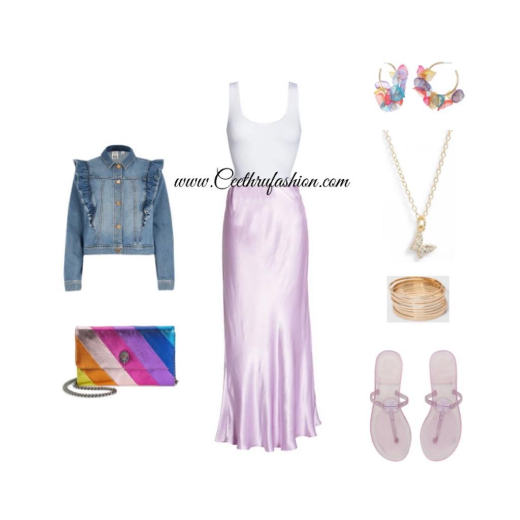 #wearpurple #purple #lupus #lupusawareness #lupusawarenessmonth   #springfashion #streetstyle #springstyle #springoutfit #ootd #outfitoftheday #springlook #graylab #riverisland #slipskirt  #stellaandruby #Kurtgeigerlondon #kensington #toryburch #yummie #argentovivo #jellysandals #jellyshoes #butterfly #blackfashionblogger #brownfashionblogger #budgetfriendly #highlowfashion