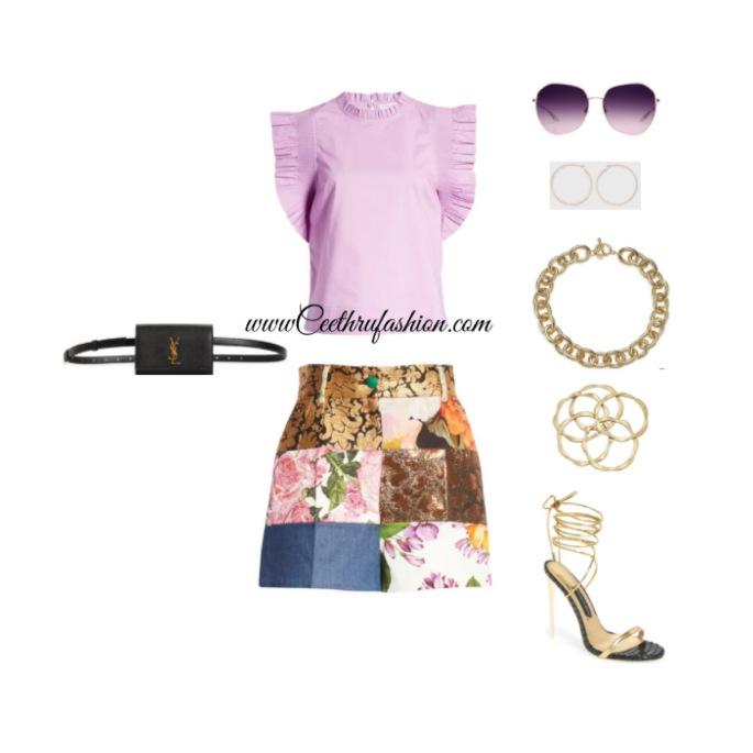 #wearpurple #purple #lupus #lupusawareness #lupusawarenessmonth   #springfashion #streetstyle #springstyle #springoutfit #ootd #outfitoftheday #springlook #patchwork #shorts #kennethjaylane #bartonerreira #bellauno #kohls #jessicarich #dolceandgabbana  #nordstrom #kohls #bangles #blackfashionblogger #brownfashionblogger #budgetfriendly #highlowfashion