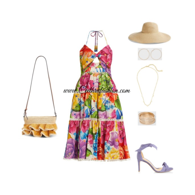 #wearpurple #purple #lupus #lupusawareness #lupusawarenessmonth   #springfashion #streetstyle #springstyle #springoutfit #ootd #outfitoftheday #springlook #farmrio #loewe #kendrascott #nordstrom #floppystrawhat #alexandrebirman #halterdress #target #raffia #blackfashionblogger #brownfashionblogger #budgetfriendly #highlowfashion #floralprint
