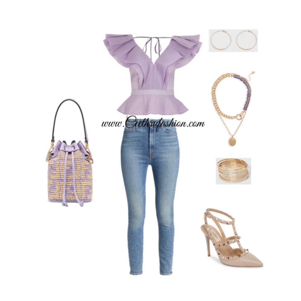 #springfashion #lupus #lupusawareness #lupusawarenessmonth #budgetfriendly #highlowfashion #wearpurple #purple #blackfashionbloggers #streetstyle #streetfashion #outfit #outfitoftheday #ootd #riverisland #7forallmankind #fendi #valentino #rockstud #targetstyle #openedit #nordstrom