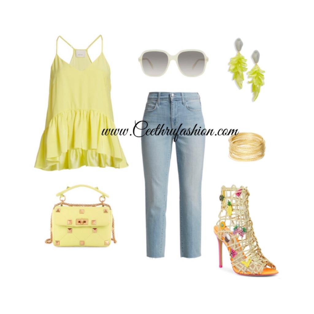 #summer #summerfashion #summerstyle #orlandofashionbloggers #brownfashionbloggers #floridafashionbloggers #fashion #lupus #jw #style #highlowfashion #statementjewelry #floridafashionbloggers #outfits #orlandoflorida #readytowear #virtualstyling #streetstyle #summeroutfit #sunglasses #budget #ootd #liketk.it #statementearrings #hotgirlsummer #blouses #statementshoe #yellow #summer2021 #blackfashionbloggers #cinqasept @lagence #sophiawebster #valentinogaravani #rockstud #celine #openedit #zulily